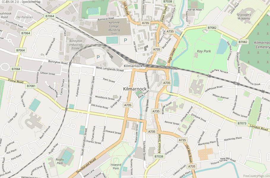 Kilmarnock Scotland Map