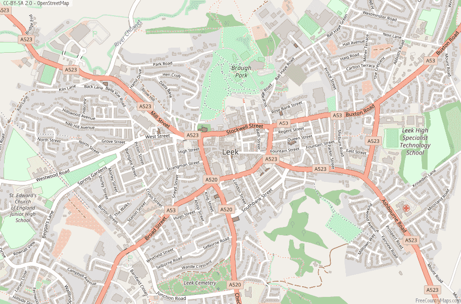 Leek England Map