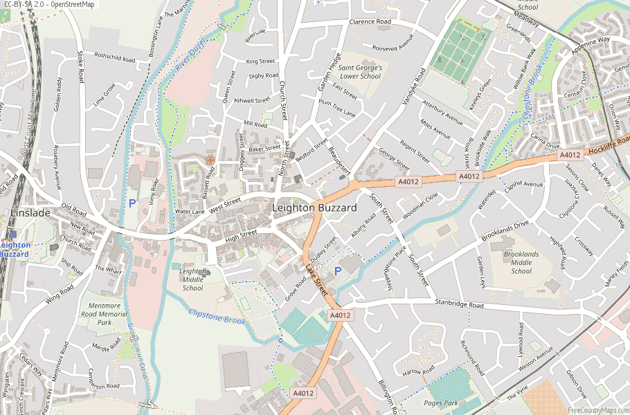 Leighton Buzzard England Map
