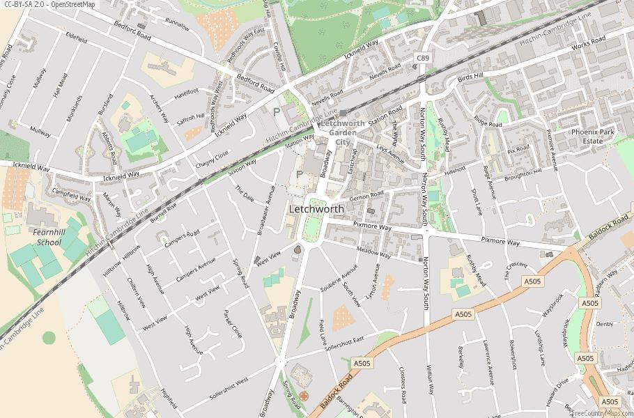 Letchworth England Map