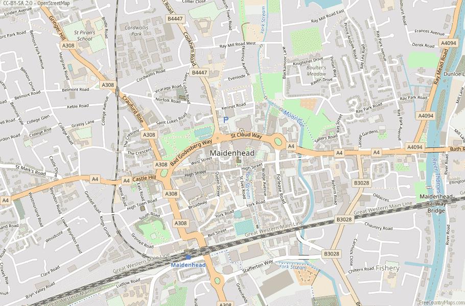 Maidenhead England Map