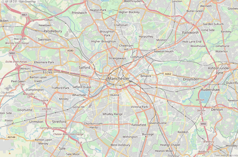 Manchester England Map