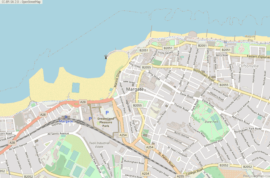 Margate England Map