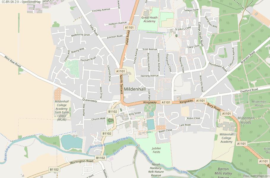 Mildenhall England Map.Mildenhall Map Great Britain Latitude Longitude Free England Maps