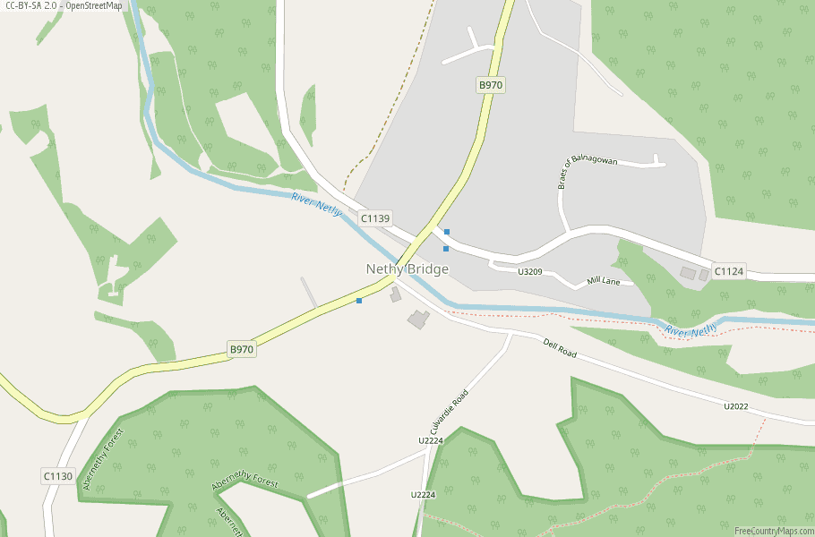 Nethy Bridge Map Great Britain Latitude & Longitude: Free Scotland Maps