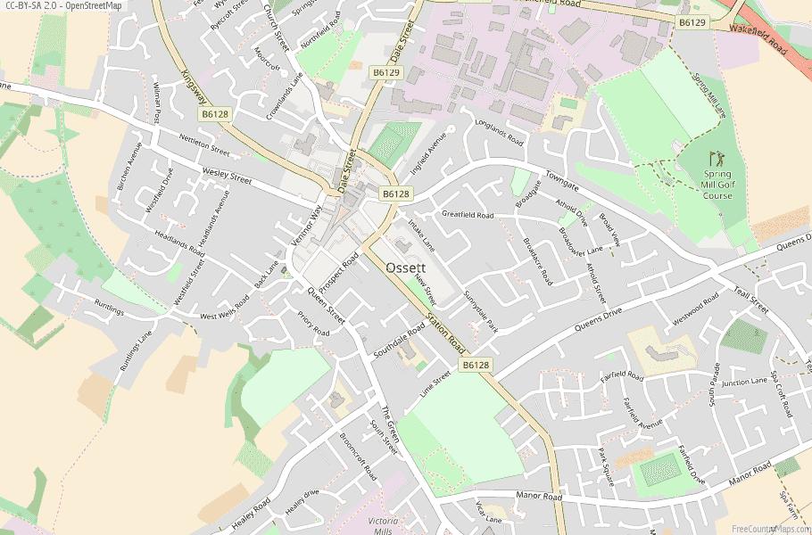Ossett England Map