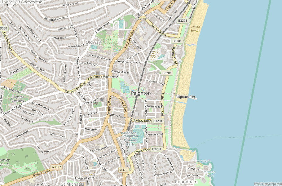 Paignton England Map