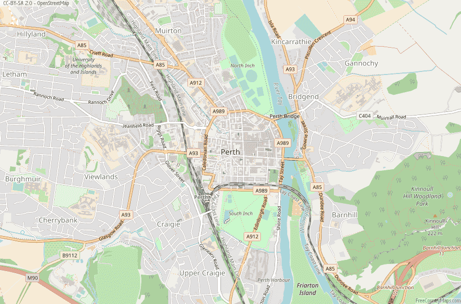 Perth Scotland Map
