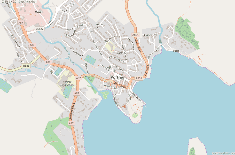Portree Scotland Map