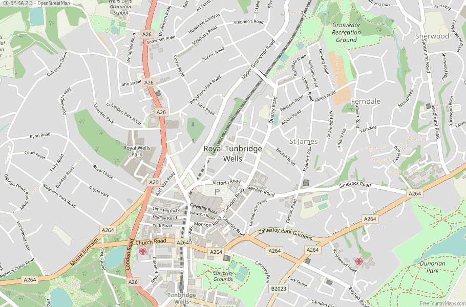 Royal Tunbridge Wells England Map