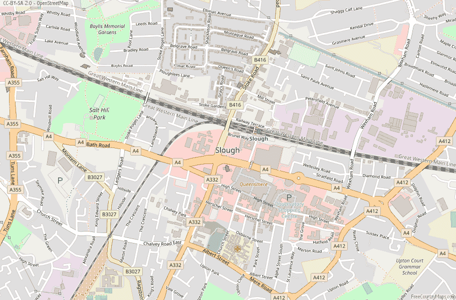 Slough England Map