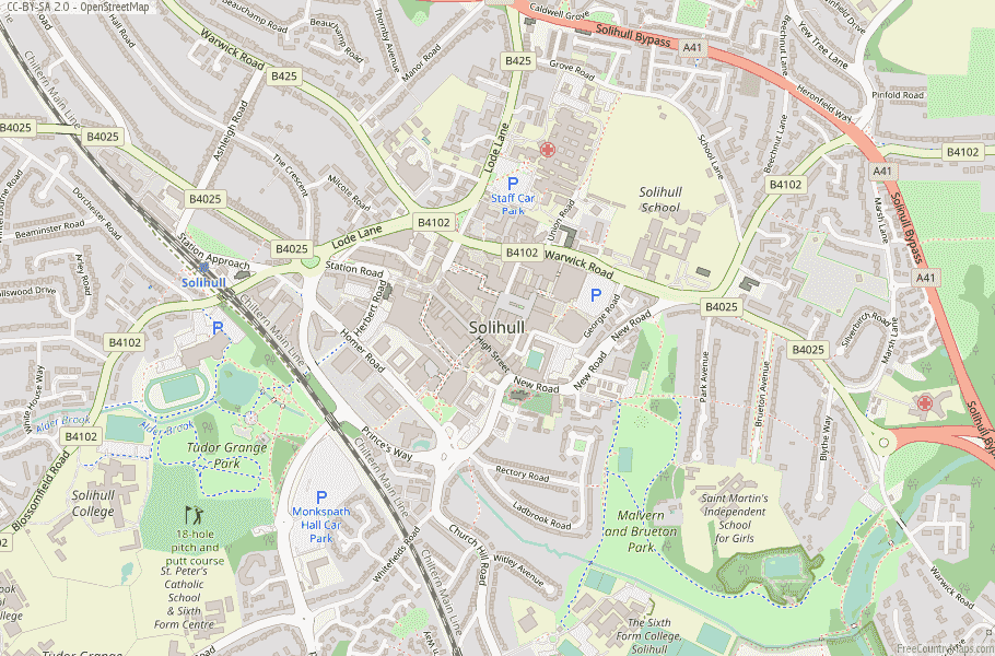 Solihull England Map