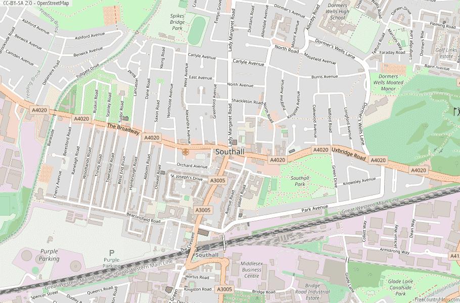 Southall England Map