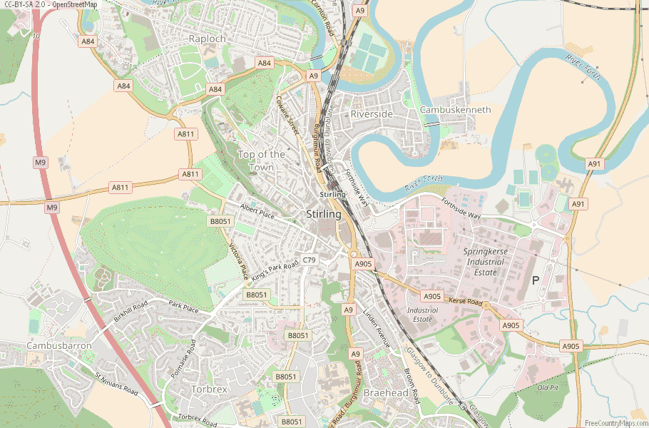 Stirling Scotland Map