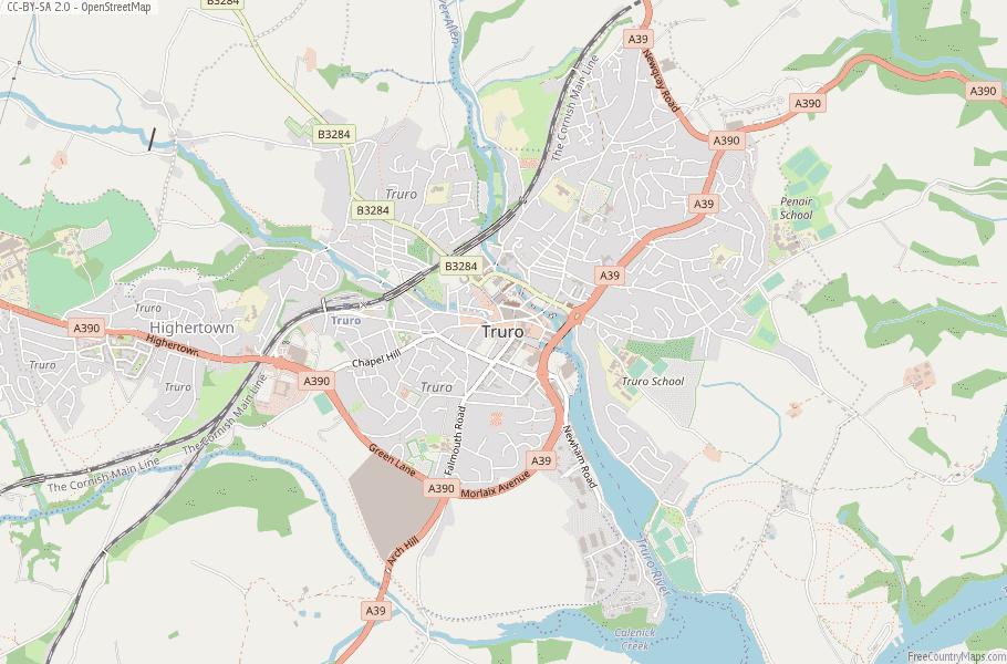 Truro England Map