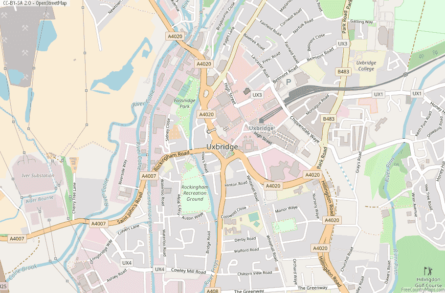 Uxbridge England Map