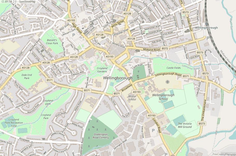 Wellingborough England Map