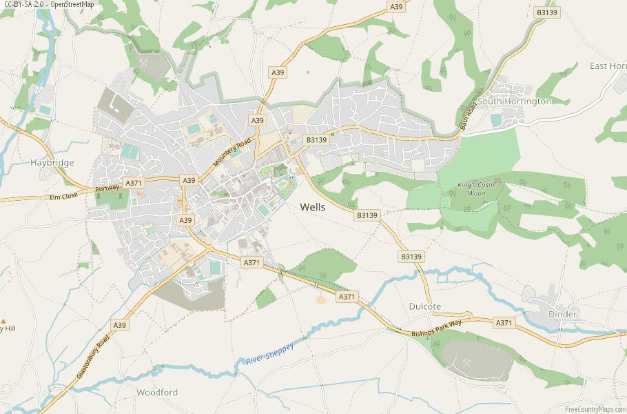 Wells England Map