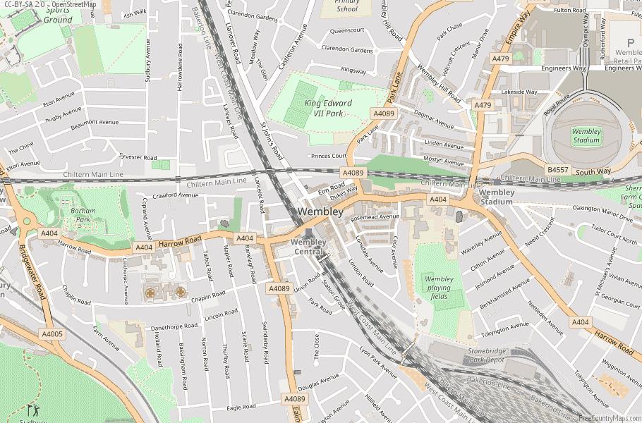 Wembley England Map