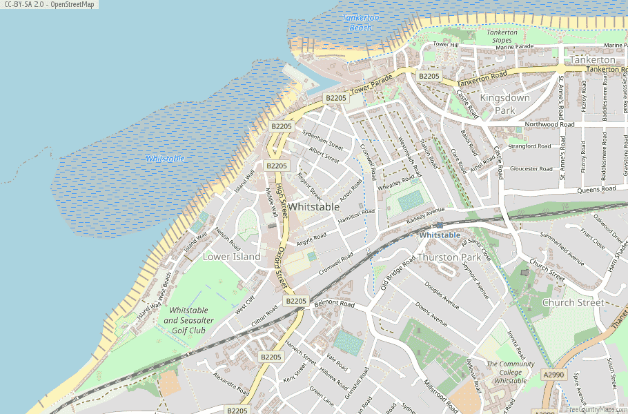 Whitstable England Map