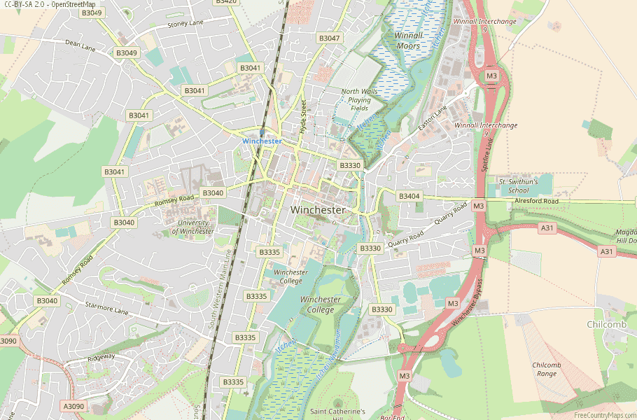 Winchester England Map
