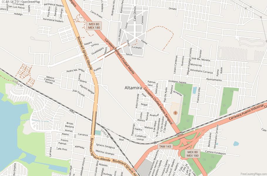 Altamira Mexico Map.Altamira Map Mexico Latitude Longitude Free Maps