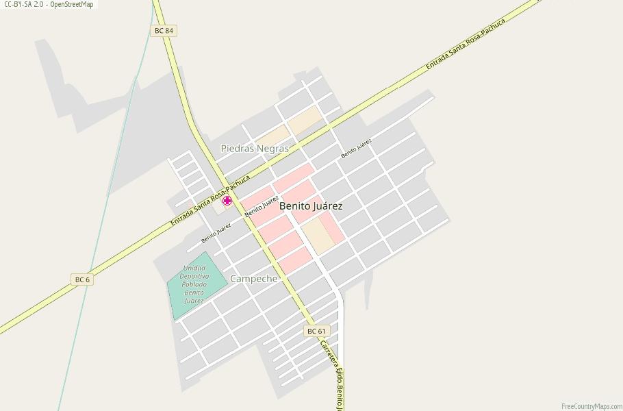 Benito Juarez Map Mexico Latitude Longitude Free Maps