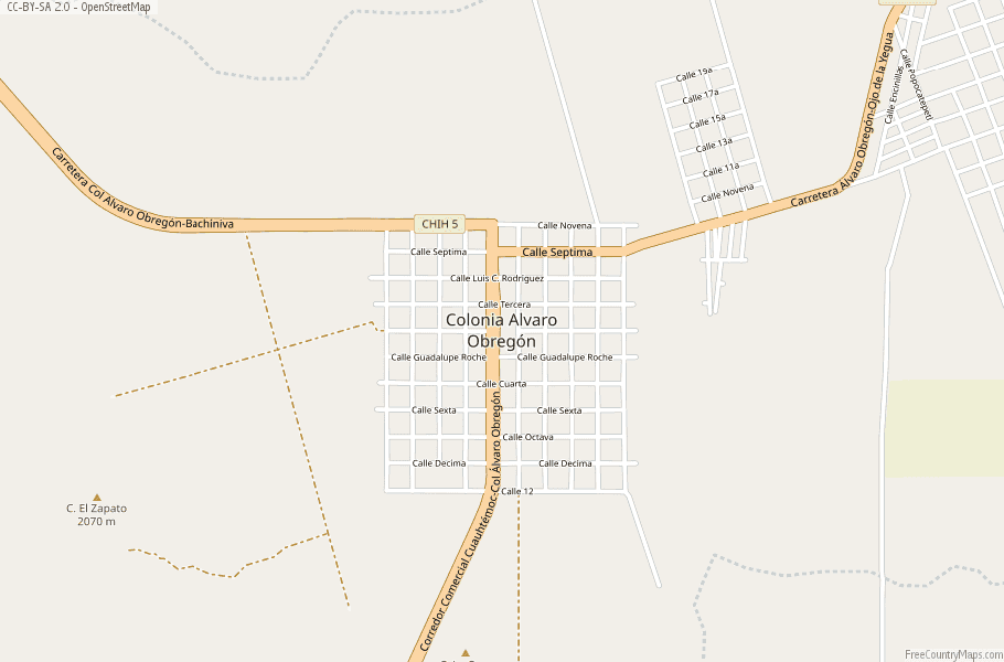 Obregon Mexico Map.Colonia Alvaro Obregon Map Mexico Latitude Longitude Free Maps