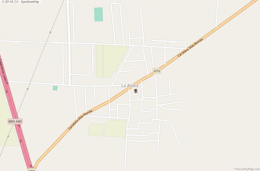 La Aldea Map Mexico Latitude Longitude Free Maps