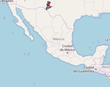 Colonia Lebaron Mexico Map.El Porvenir Map Mexico Latitude Longitude Free Maps