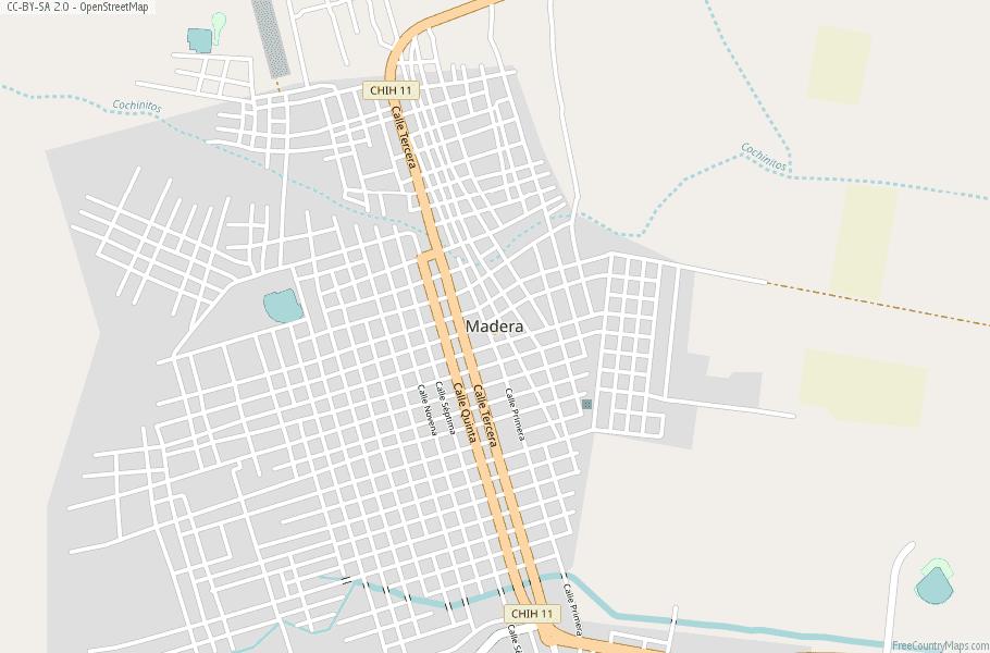 Colonia Lebaron Mexico Map.Madera Map Mexico Latitude Longitude Free Maps