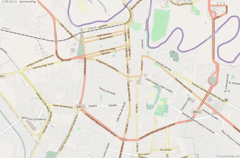Matamoros Map Mexico Latitude & Longitude: Free Maps