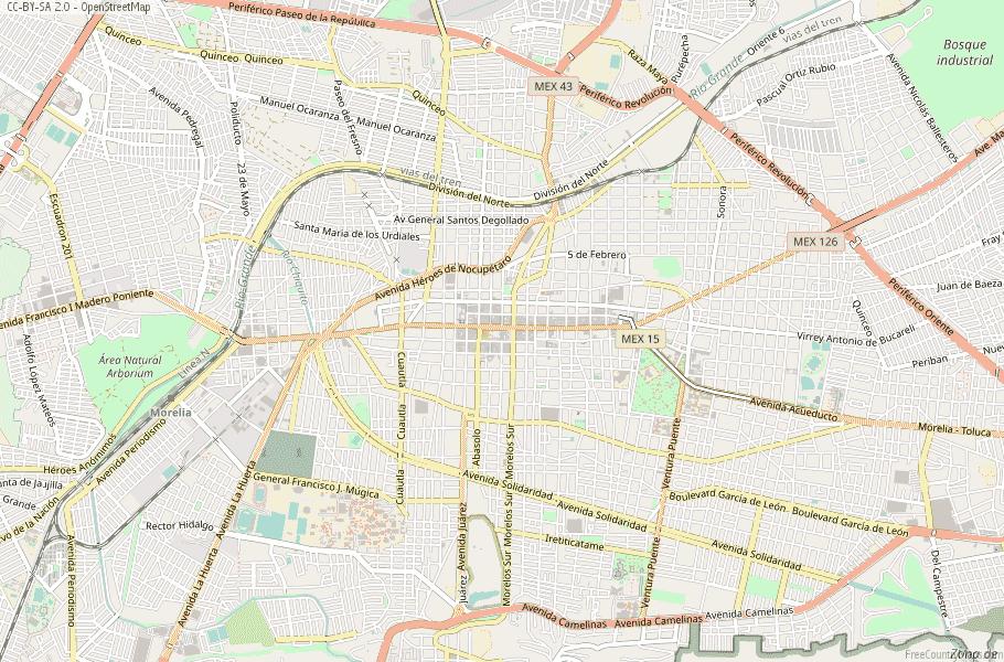 Morelia Map Mexico Latitude Longitude Free Maps
