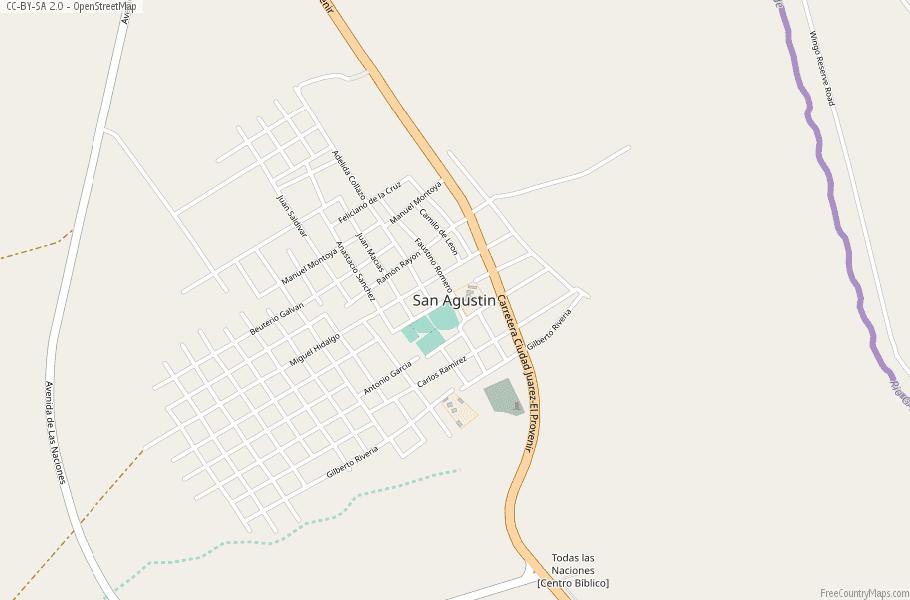 Colonia Lebaron Mexico Map.San Agustin Map Mexico Latitude Longitude Free Maps