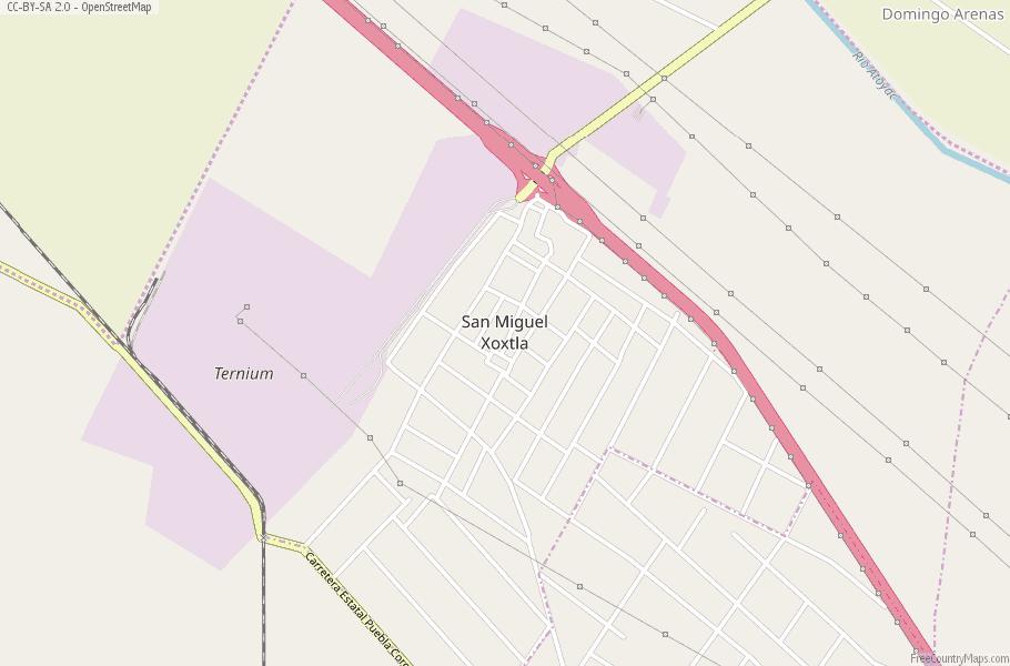 San Miguel Xoxtla Map Mexico Latitude Longitude Free Maps