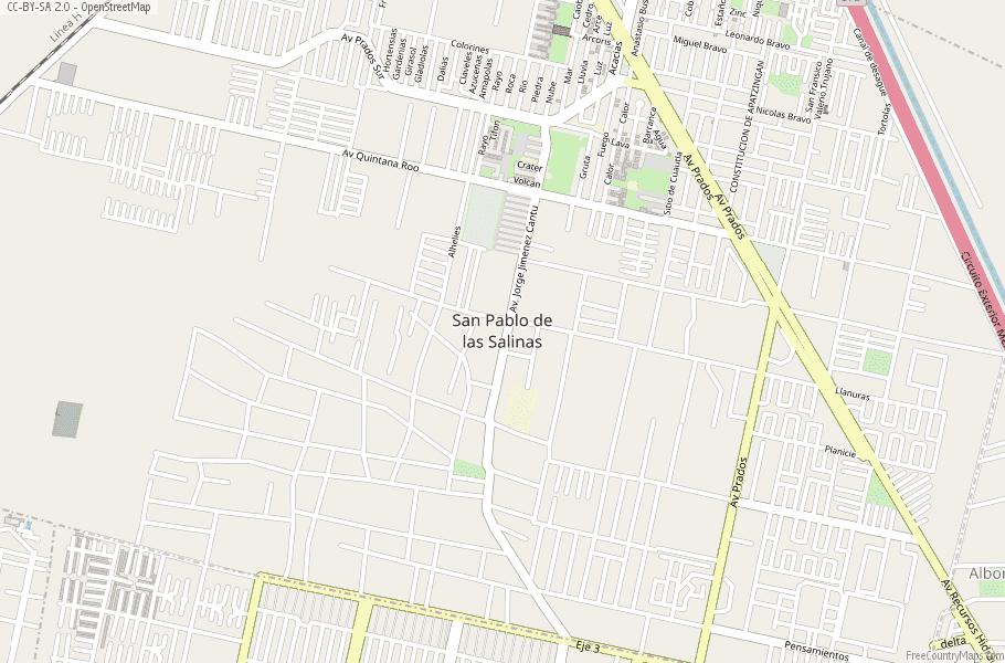 Salinas Mexico Map.San Pablo De Las Salinas Map Mexico Latitude Longitude Free Maps