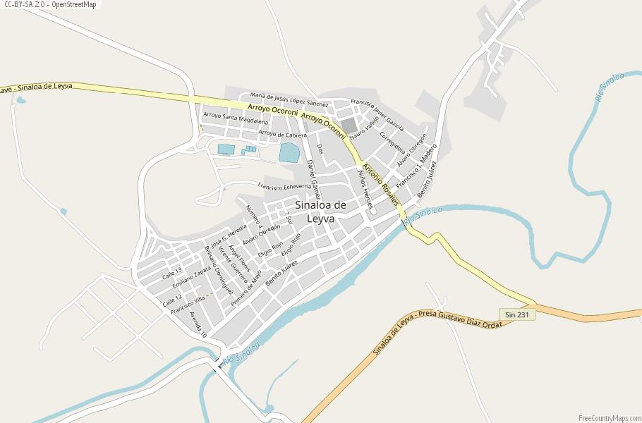 Mexico Map Sinaloa.Sinaloa De Leyva Map Mexico Latitude Longitude Free Maps