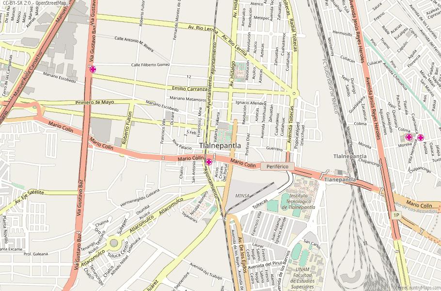 Tlalnepantla Mexico Map.Tlalnepantla Map Mexico Latitude Longitude Free Maps