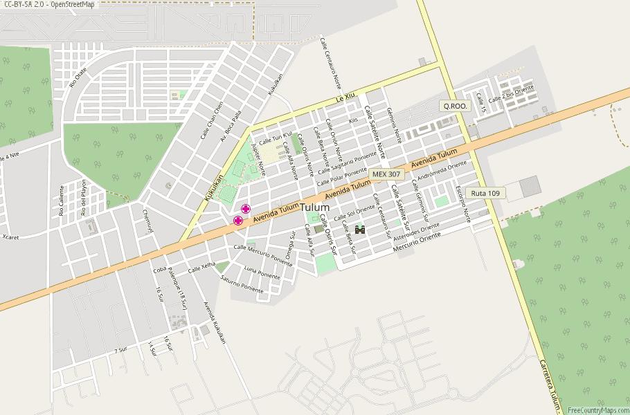 Tulum Map Mexico Latitude Longitude Free Maps