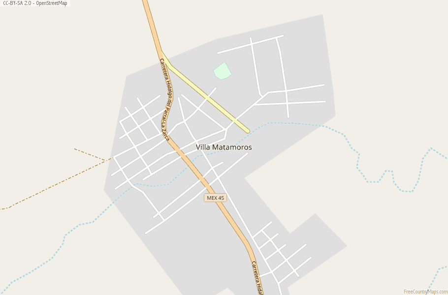 Villa Matamoros Map Mexico Latitude & Longitude: Free Maps