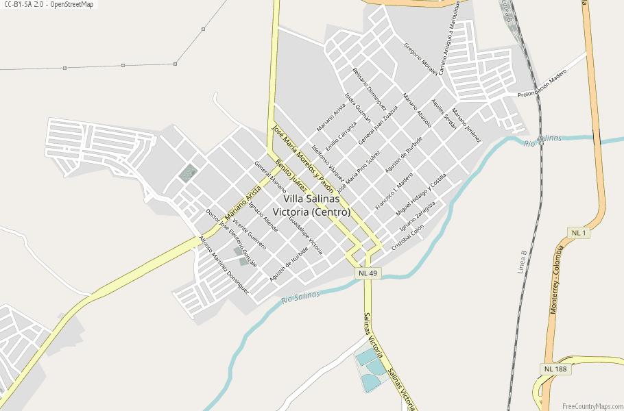 Salinas Mexico Map.Villa Salinas Victoria Centro Map Mexico Latitude Longitude