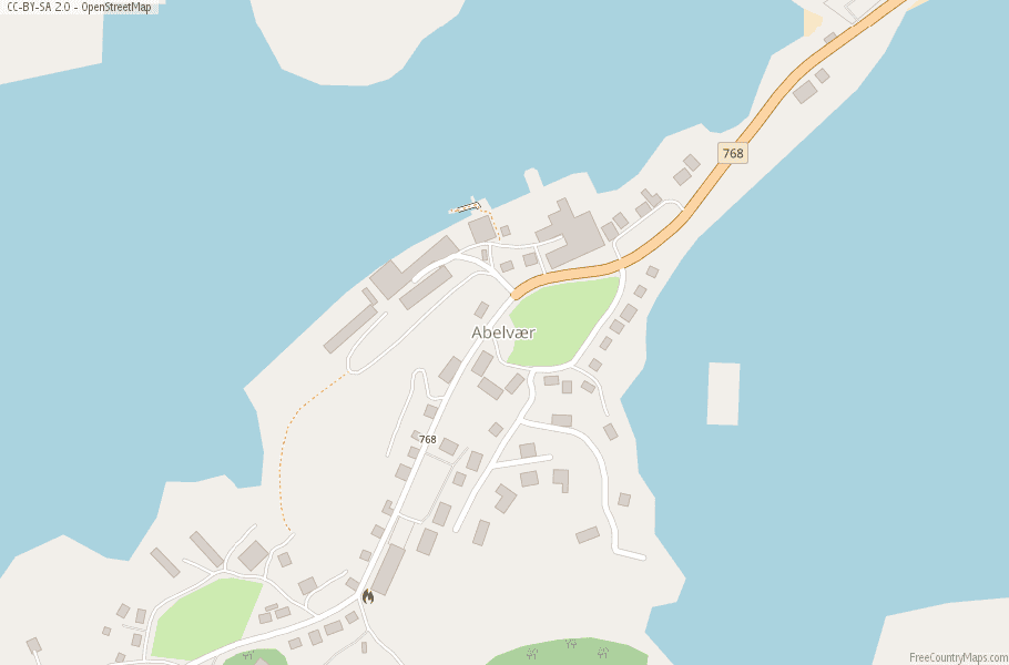 Abelvær Norway Map
