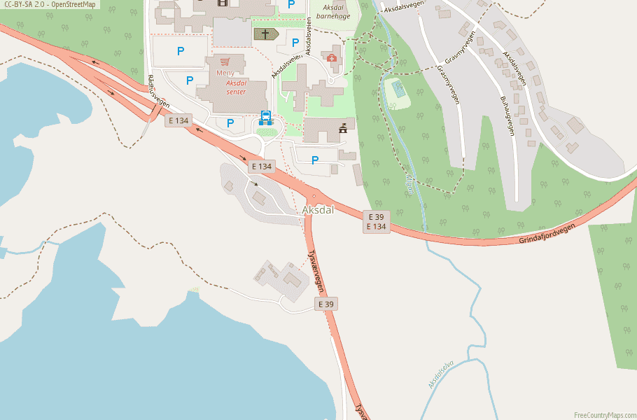 Aksdal Norway Map