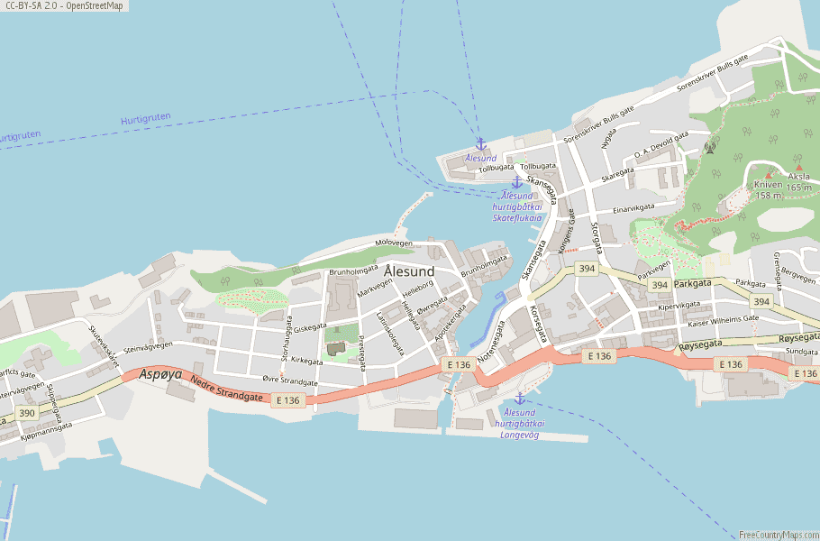Ålesund Norway Map