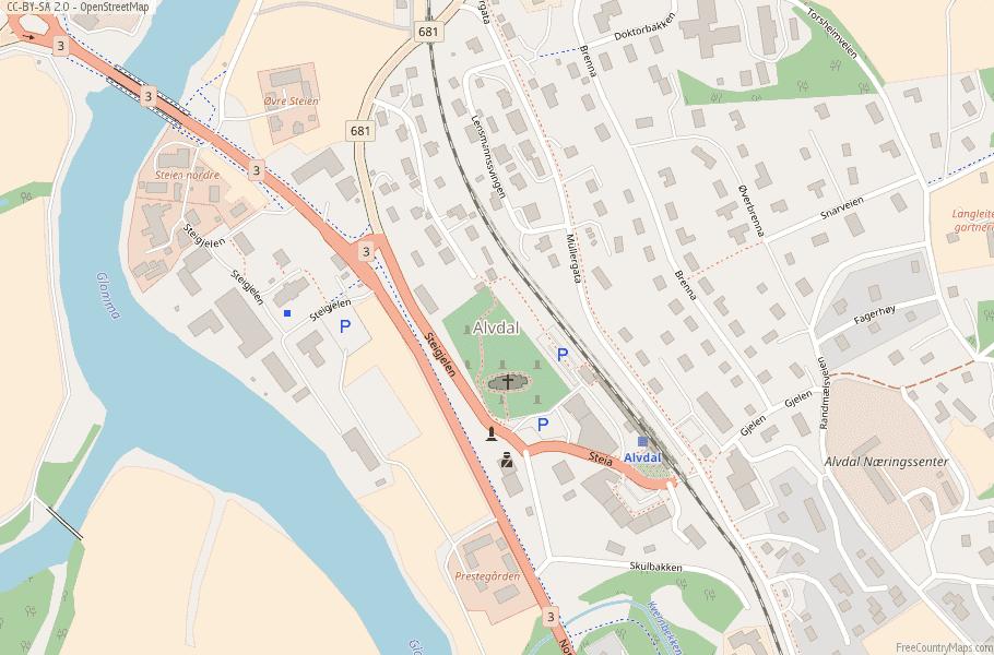Alvdal Norway Map