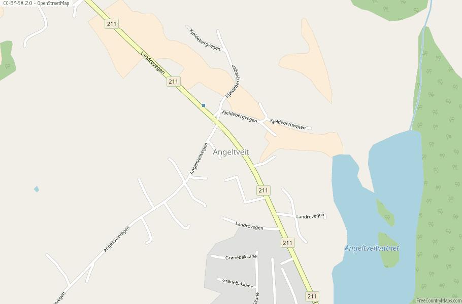 Angeltveit Norway Map