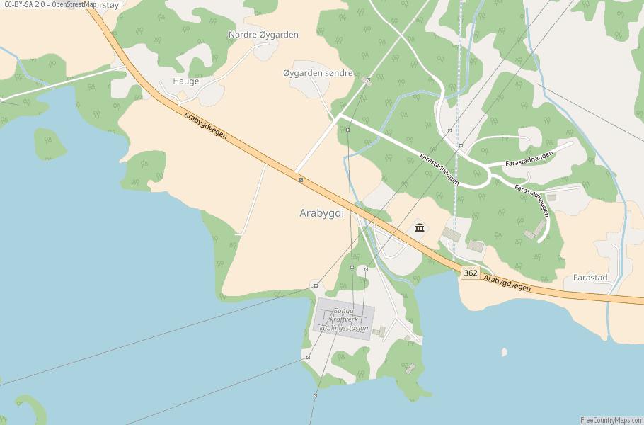 Arabygdi Norway Map