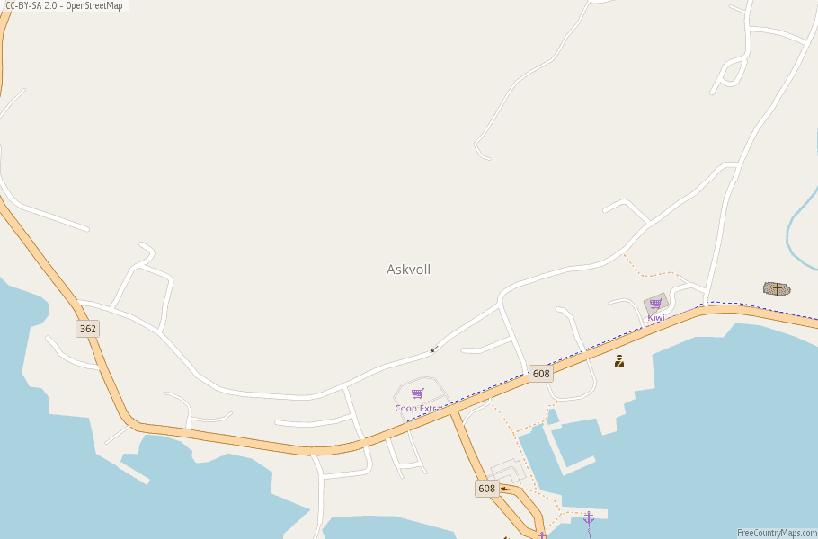 Askvoll Norway Map