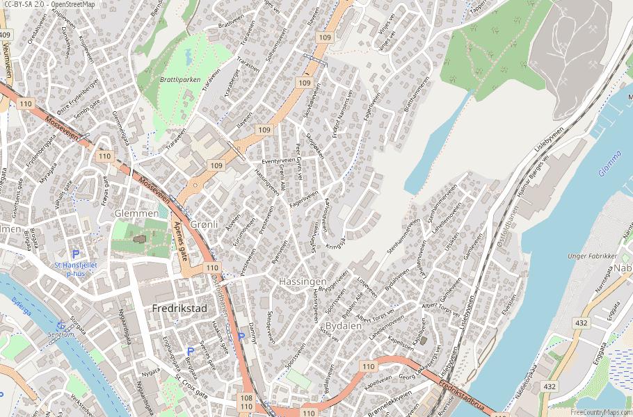 Fredrikstad Norway Map