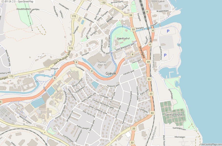 Gjøvik Norway Map